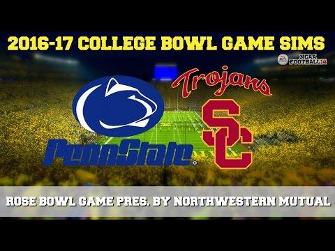 2017 Rose Bowl Game Presented by Northwestern Mutual Sim | Penn St. vs USC (NCAA Football 14)
