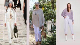 Базовый летний гардероб белые джинсы брюки Как носить с чем сочетать