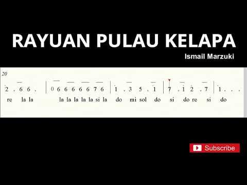 Not Angka Rayuan Pulau Kelapa - Do = C Mayor - Lagu Wajib Nasional