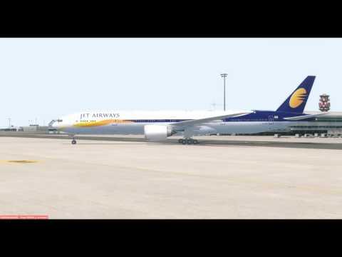 FSX/P3D Mumbai-Dubai Jet Airways 777 [Vatsim]