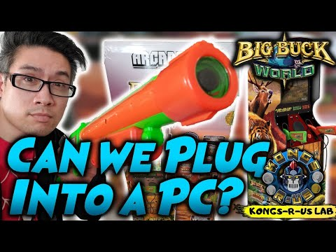 Big Buck World Arcade 1Up - Can We Plug It Into a PC? Unboxing & First Thoughts from Kongs-R-Us