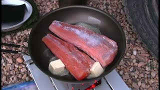 Trout Fishing With Grandpa For Fish Tacos! Cooked On The Firebox Camping Stove! (short)