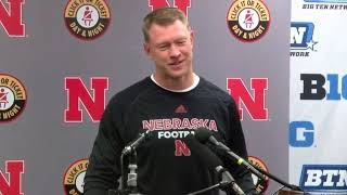 Scott Frost after Nebraska's loss to Northwestern