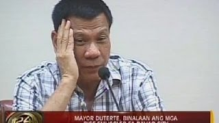 24Oras: Mayor Duterte, binalaan ang mga rice smuggler sa Davao City