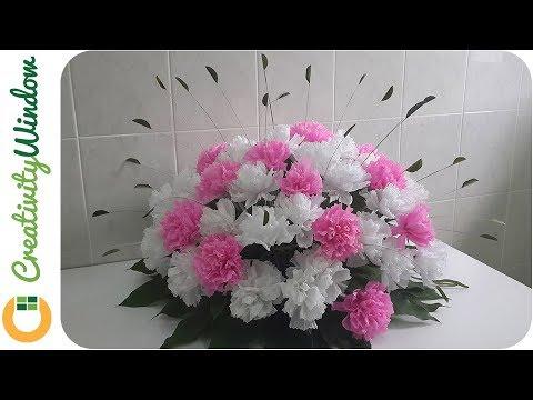 Wedding Decor: Mango Leaves and Paper Carnation Flower