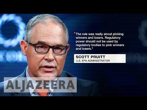 US EPA chief Scott Pruitt announces withdrawal of clean power plan