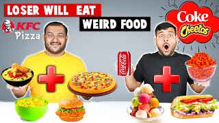 LOSER WILL EAT WEIRD FOOD | KFC Rice Pizza Challenge |  Epic Noodles Challenge | Viwa Food World