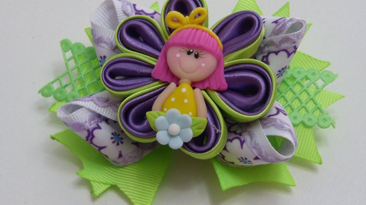 Como hacer lazos flor de tela kanzashi diy 584 mo os - Como hacer monos ...