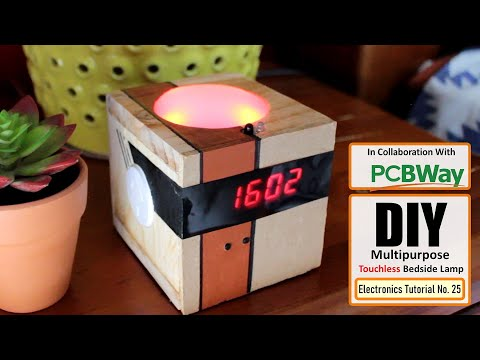 Touchless Multifunctional Bedside Lamp With Digital Clock
