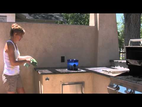Cleaning Outdoor Grill Area with H2O At Home
