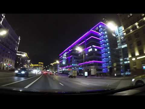 🚘Ослепительные огни Садового Кольца в Москве! Супер подсветка города!Russia-Moscow city!