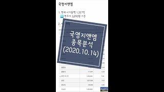 국영지앤엠 종목분석 (10월14일)