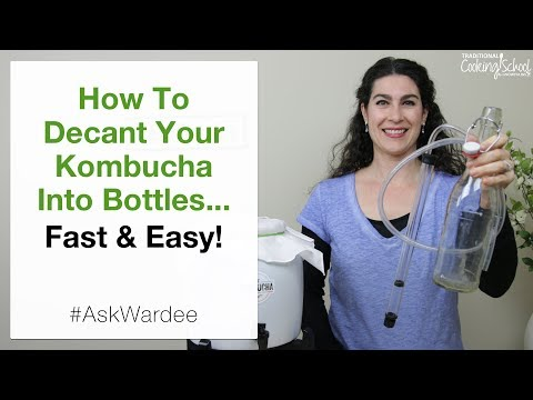 How To Decant Your Kombucha Into Bottles... Fast and Easy! | #AskWardee 104