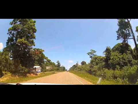 Driving in Belize - Steadfast to Placencia - Gopro 2