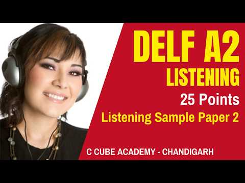 DELF A2 Comprehension Orale | DELF A2 Listening Test Practice Online Sample Paper 2