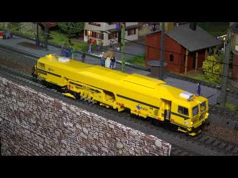 Viessmann 26098 Plasser und Theurer StopfExpress Märklin 37004 BR212 Bahnbau UHD 4K 2160