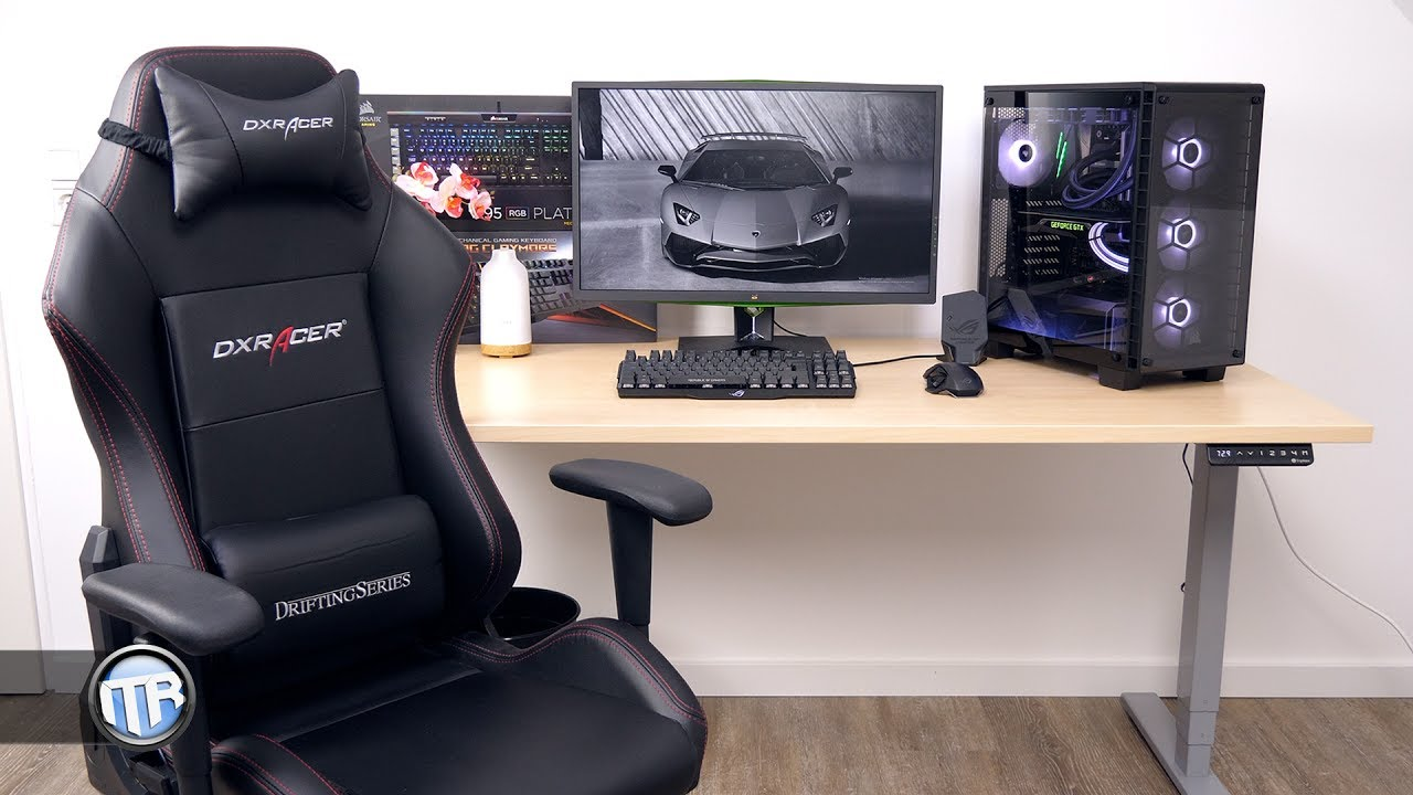 h henverstellbarer schreibtisch mit motor ergotopia desktopia pro im test youtube. Black Bedroom Furniture Sets. Home Design Ideas