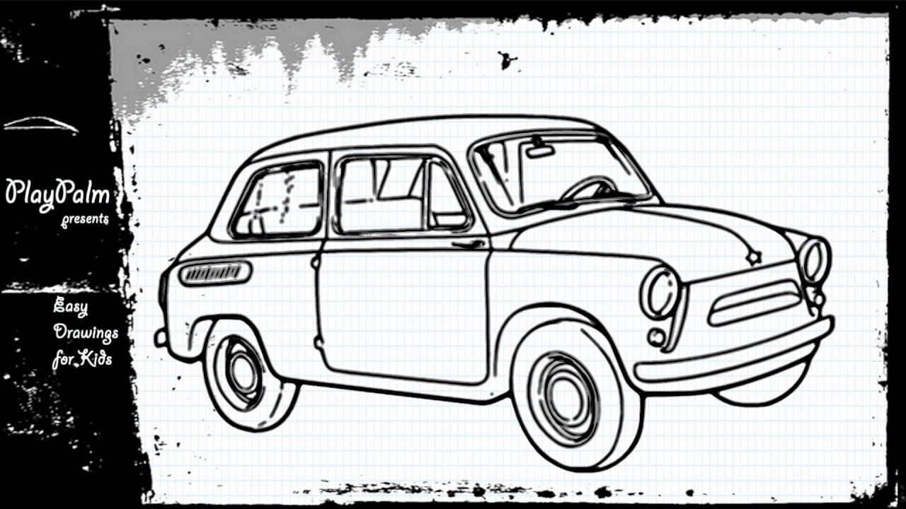 Draw Mini British Layland Car