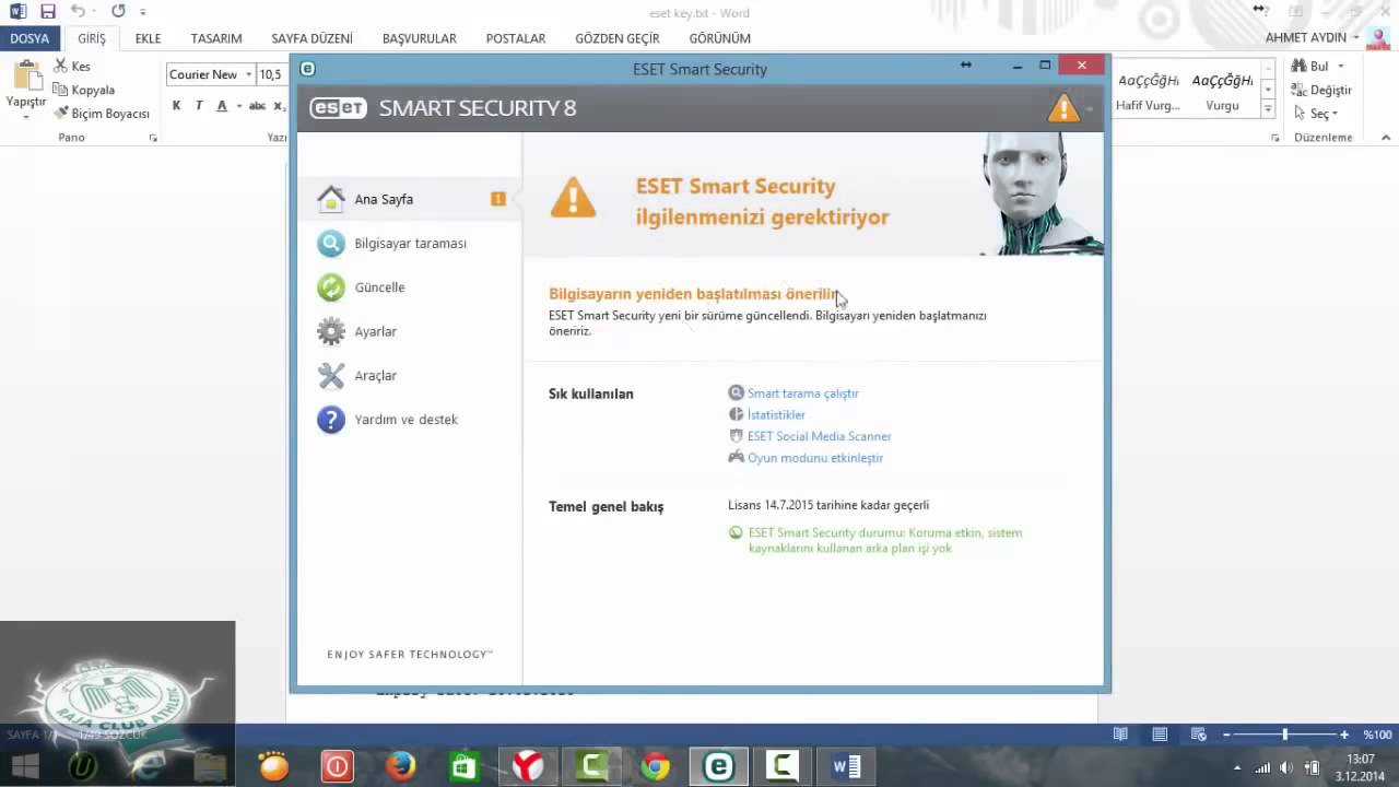 eset smart security 8 username and password facebook 2018