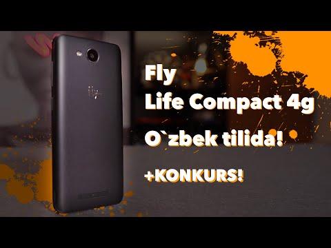 Tekinga Smartfon Fly Lite Compact 4G, Eng Arzon Android Smartfoni O'zbekcha Tavsif
