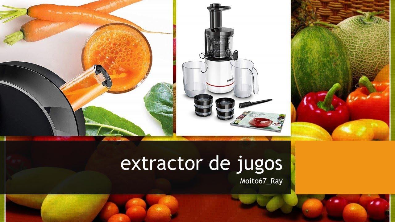 Slow Juicer Bosch : Extractor de Jugos con Tecnologia de Prensado Lento, Bosch ...
