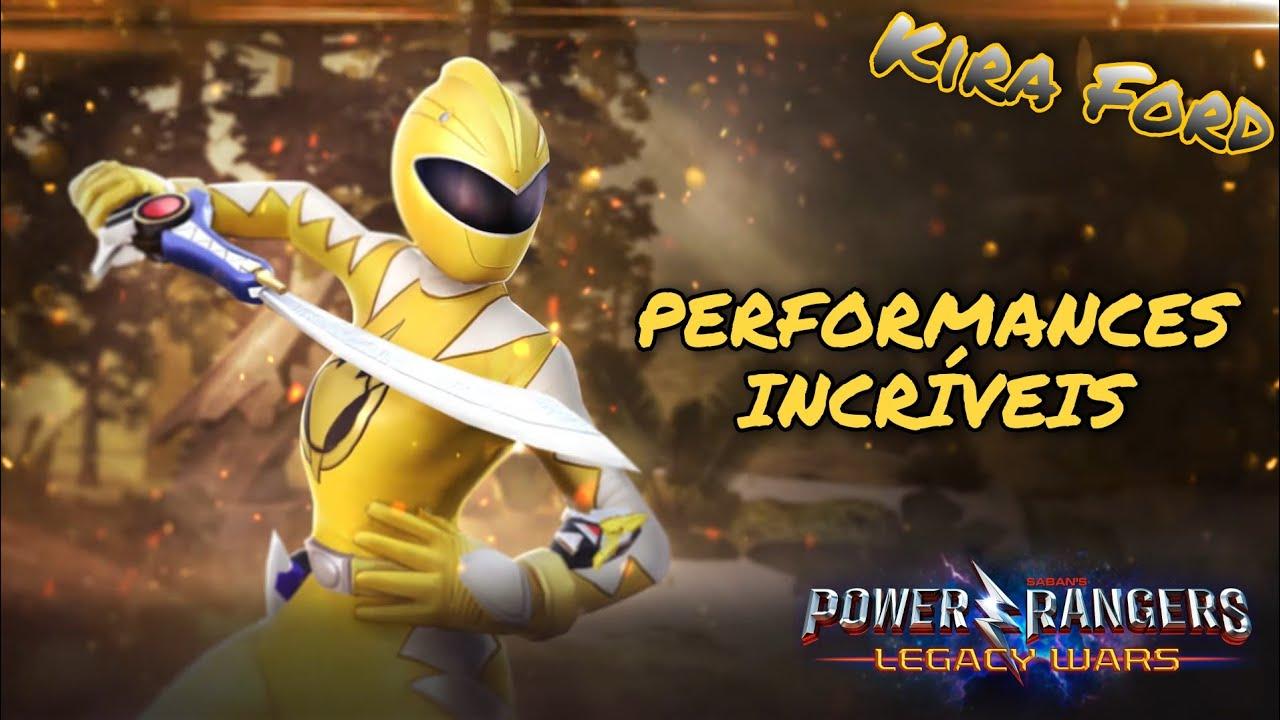 Power Rangers Legacy Wars - Kira Ford (Power Rangers Dino Trovão): Incríveis Performances