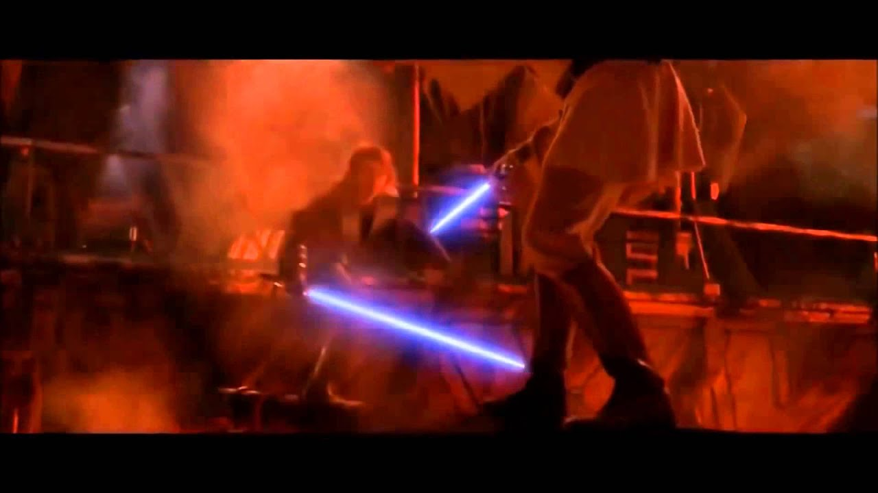 anakin vs obi wan mv over and under youtube