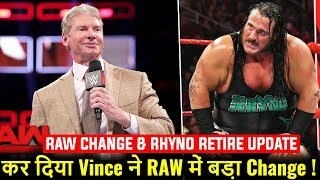 BIG CHANGES To RAW DONE By Vince ! Rhyno Retirement Update ! WWE TLC 2018 Match Card Highlights !