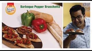 Barbeque Pepper Bruschetta #GetSummerBites