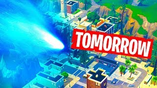 TILTED TOWERS COMET - EVENT CONFIRMED TOMORROW (METEOR IMPACT)