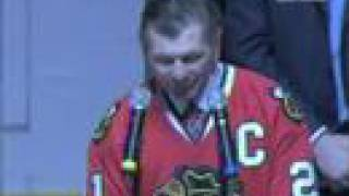 Blackhawks Honor Bobby Hull & Stan Mikita  3/7/2008  Part 2