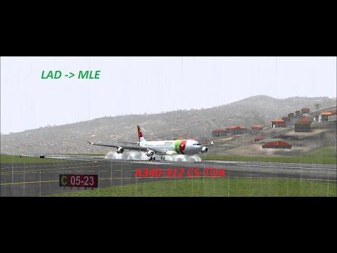 FS2004 - Luanda to Male A340 TAP PORTUGAL