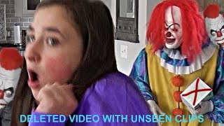 Scary Creepy Clown Breaks in Our House and Runs After Us