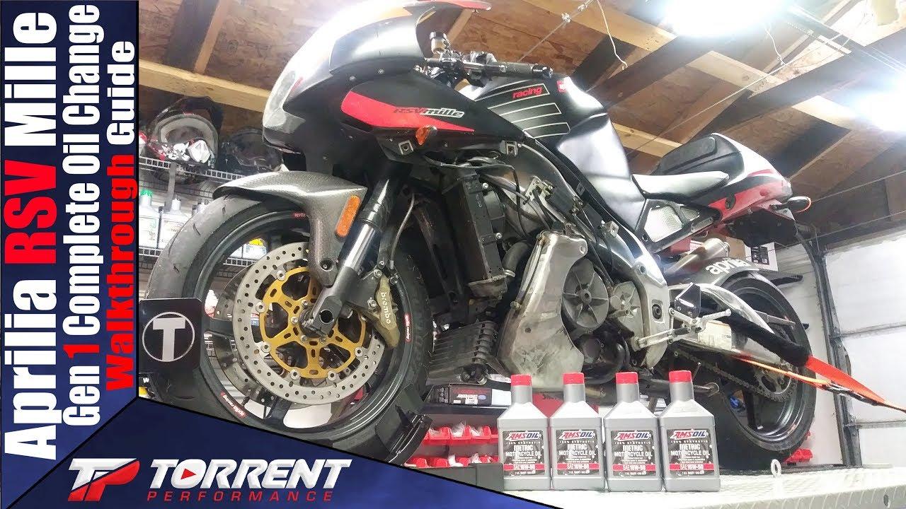 Aprilia RSV1000 Mille and Tuono Gen 1 Oil Change Walkthrough