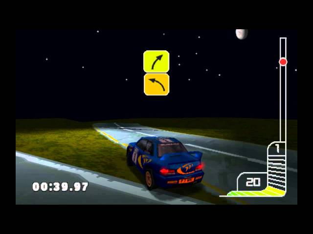 Colin Mcrae Rally (Playstation 1) UFO abduction secret (Corsica - Special Stage)
