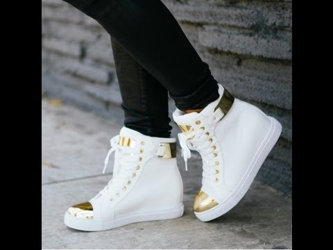 All White High Top Shoe