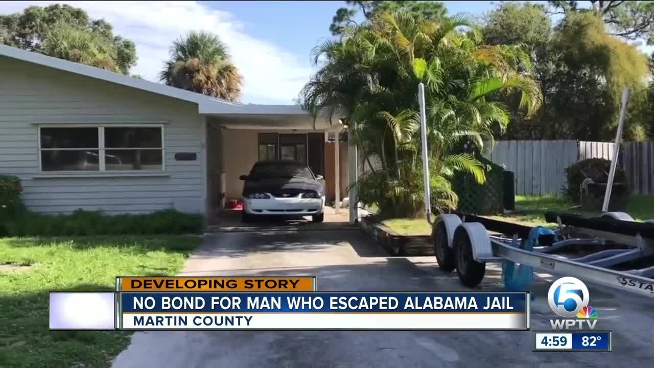 No bond for man who escaped from Alabama jail