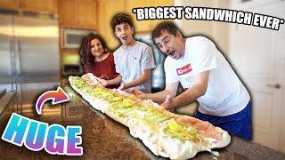 MAKING THE BIGGEST SUB SANDWICH!!(10 feet long)