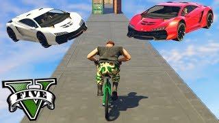 GTA V Online: BMX vs SUPER CARROS - ACONTECEU o IMPOSSÍVEL!!!