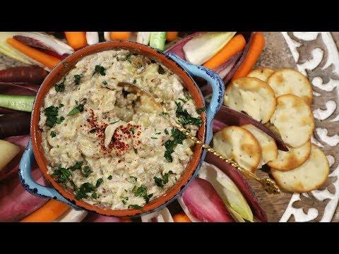 Eggplant Yogurt Dip Recipe - Armenian Cuisine - Heghineh Cooking Show