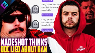 Nadeshot Thinks Dr Disrespect is Lying About His Twitch Ban