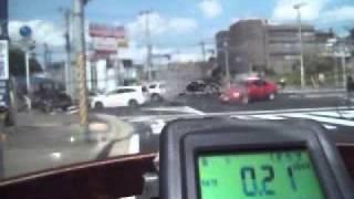 4月23日観測動画、柏市大津ヶ丘 - (船取線/R6) 取手市白山・R294分岐