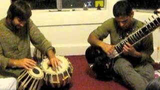 Rahul Neuman - Sitar Miles Shrewsbery - Tabla (Raga Bageshree)