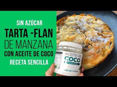 Tarta Flan de Manzana y Aceite de Coco Sin Azúcar con Sucralín
