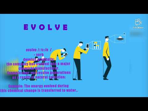 EVOLVE - Meaning #english #students #dictionary