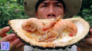Tôm Hom Nướng Sầu Riêng | Ẩm Thực Rừng Núi . Shrimp VS Durian . Thơm Ngon Đến Giọt Cuối Cùng