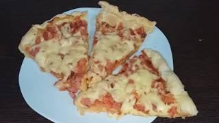 ПИЦЦА ДОМАШНЯЯ в духовке. Рецепт БЫСТРОЙ пиццы в духовке.