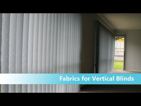 Vertical blinds - how to choose fabric