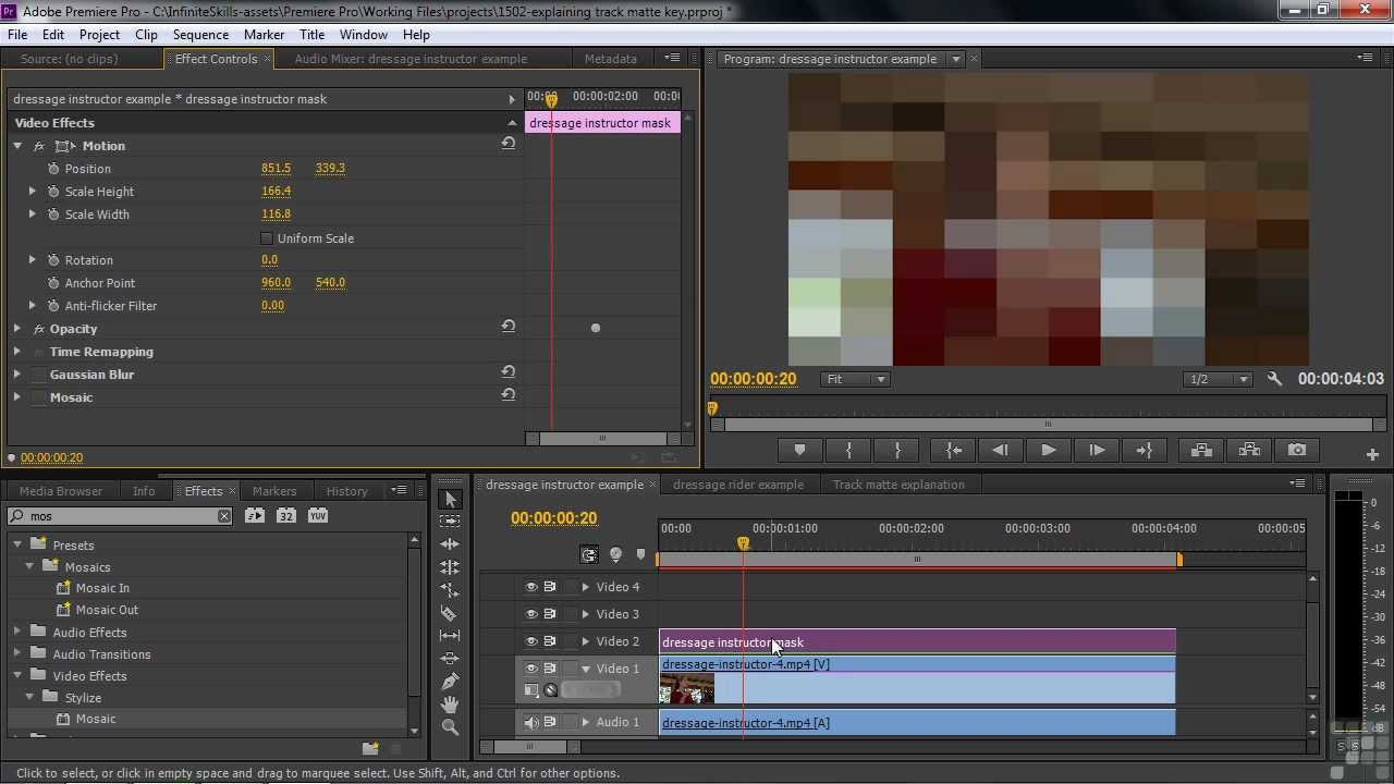 Adobe Premiere Pro CS6 Tutorial | Explaining Track Matte ...