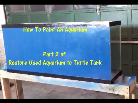 Spray Paint Aquarium Background Part 2 Of Re Used Broken To Turtle Tank